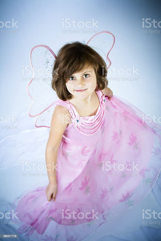 little girl in a suit of the fairy royalty-free stock photo