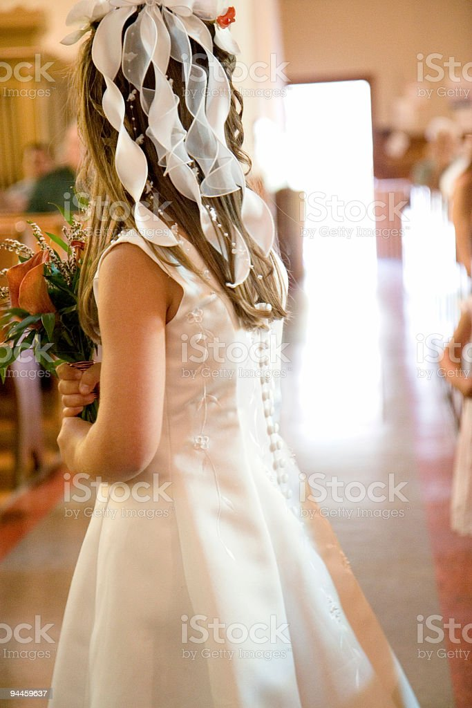 little girl in a wedding royalty-free stock photo