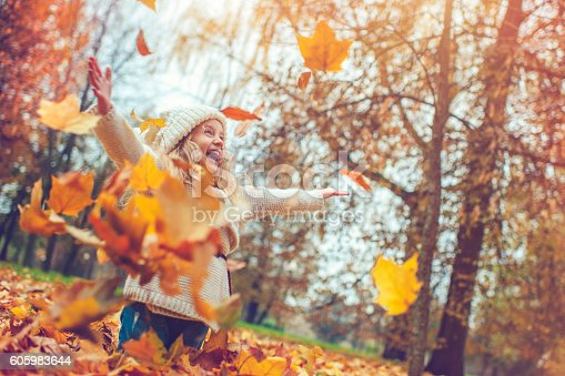 Child in autumn