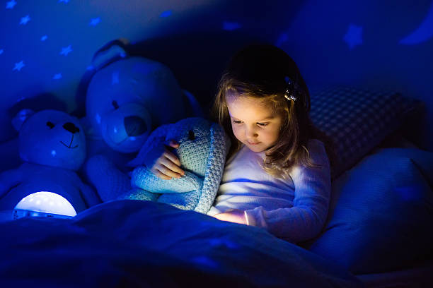 Little girl in bed with night lamp in dark bedroom picture id611886312?b=1&k=6&m=611886312&s=612x612&w=0&h=ywszxpmwpyx xogszh3o2dpbojucqfwwstfgzi w3tu=
