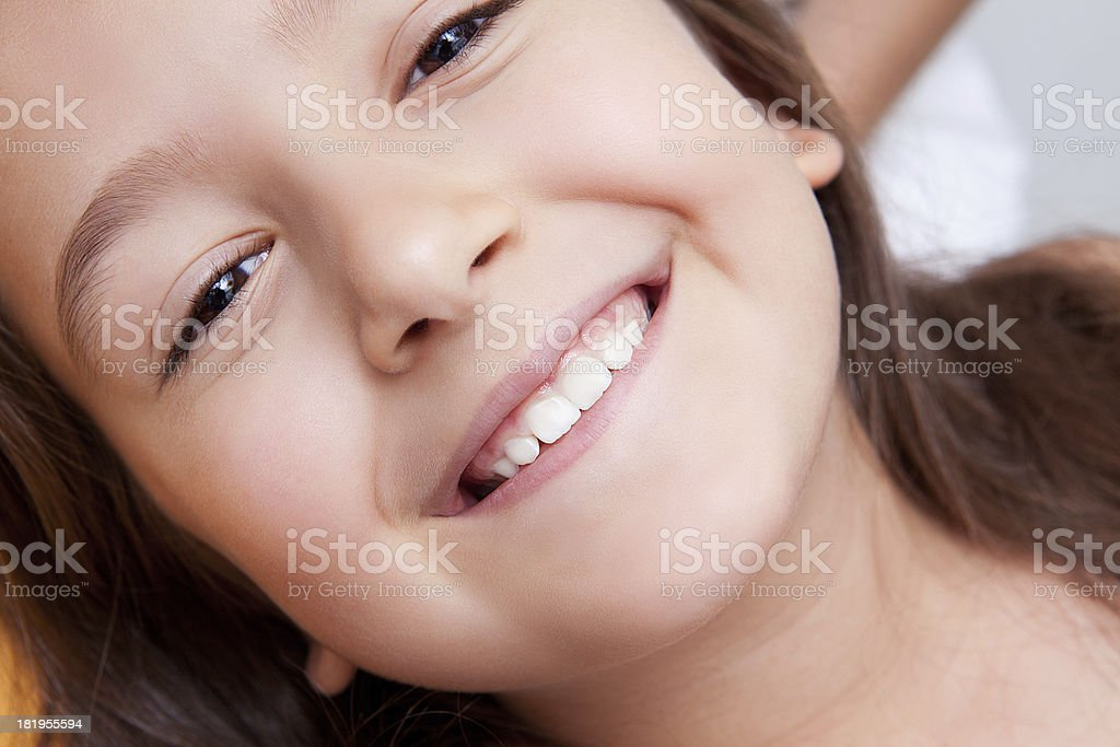 Little girl in dentist office royalty-free stock photo