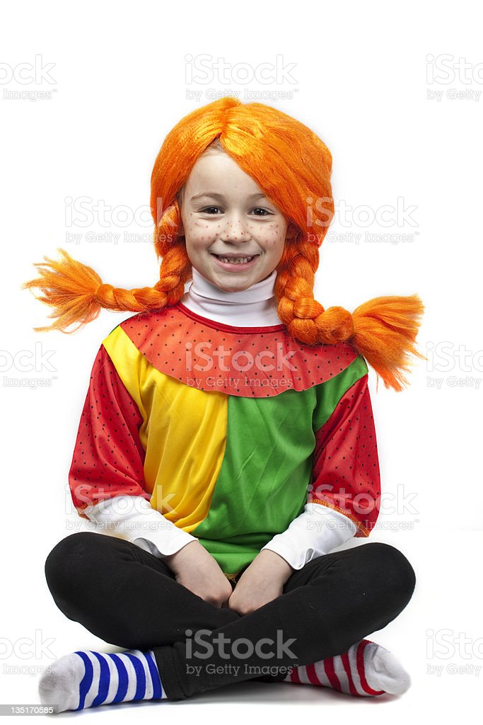 Little girl in disguise royalty-free stock photo