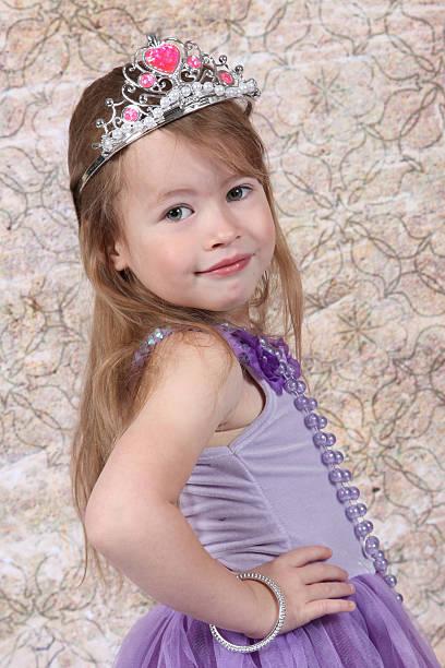 Little Girl in Dress stock photo