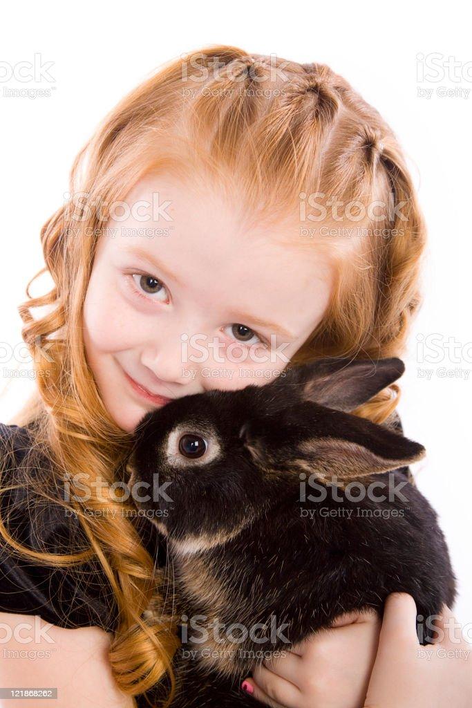 Little Girl in Easter Dress royalty-free stock photo