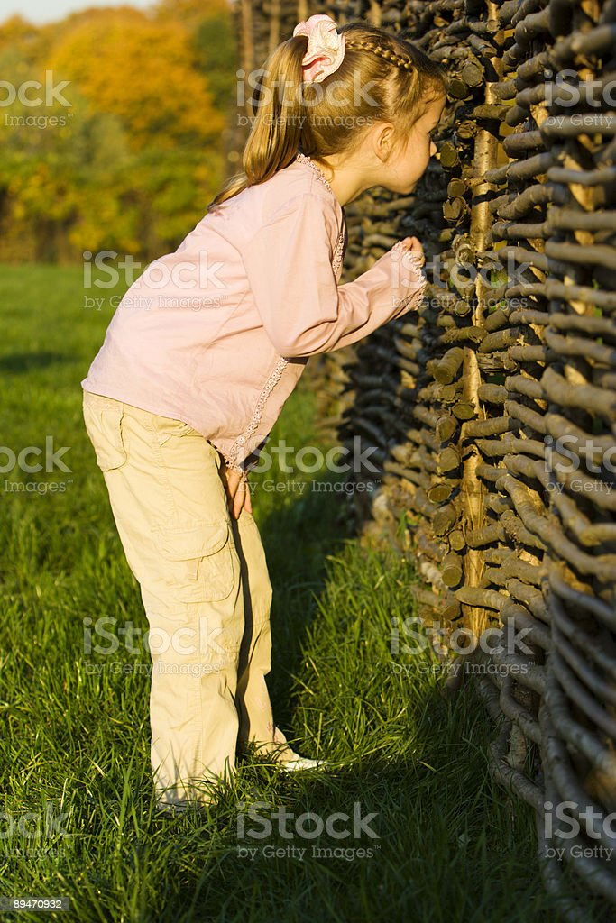 Little girl in park royalty-free stock photo