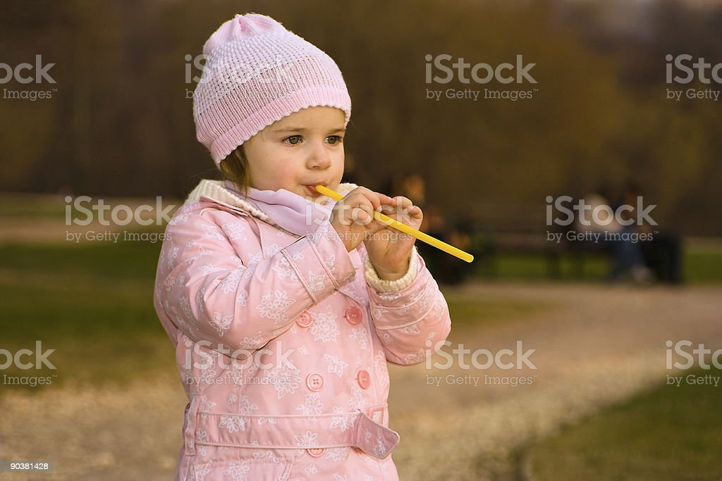 Little girl in pink royalty-free stock photo