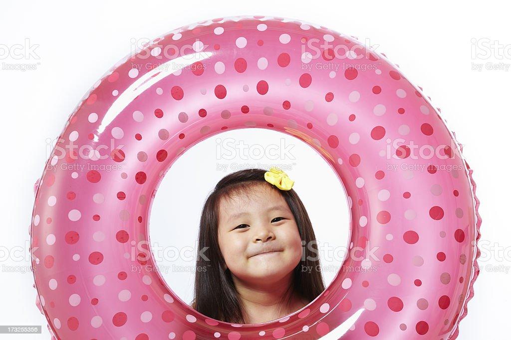 Little girl in Summer stock photo