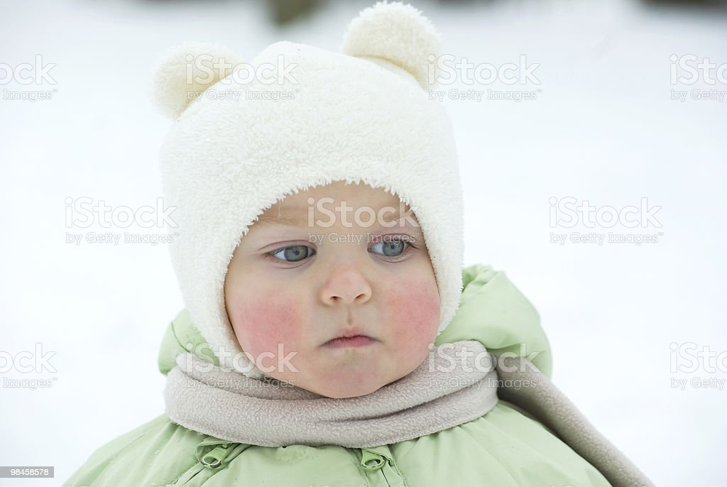 little girl in the winter royalty-free stock photo