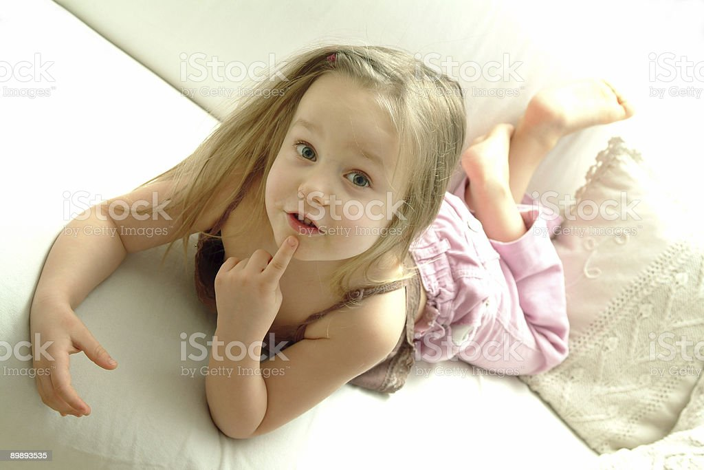 Little girl - interested royalty-free stock photo