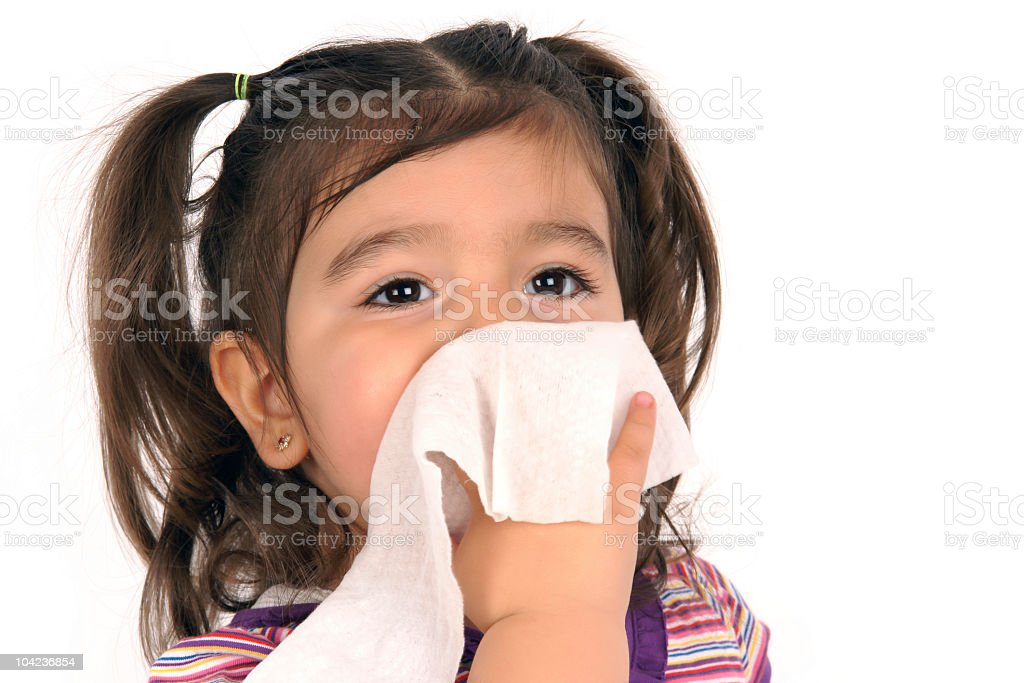 little girl is cleaning her own face royalty-free stock photo