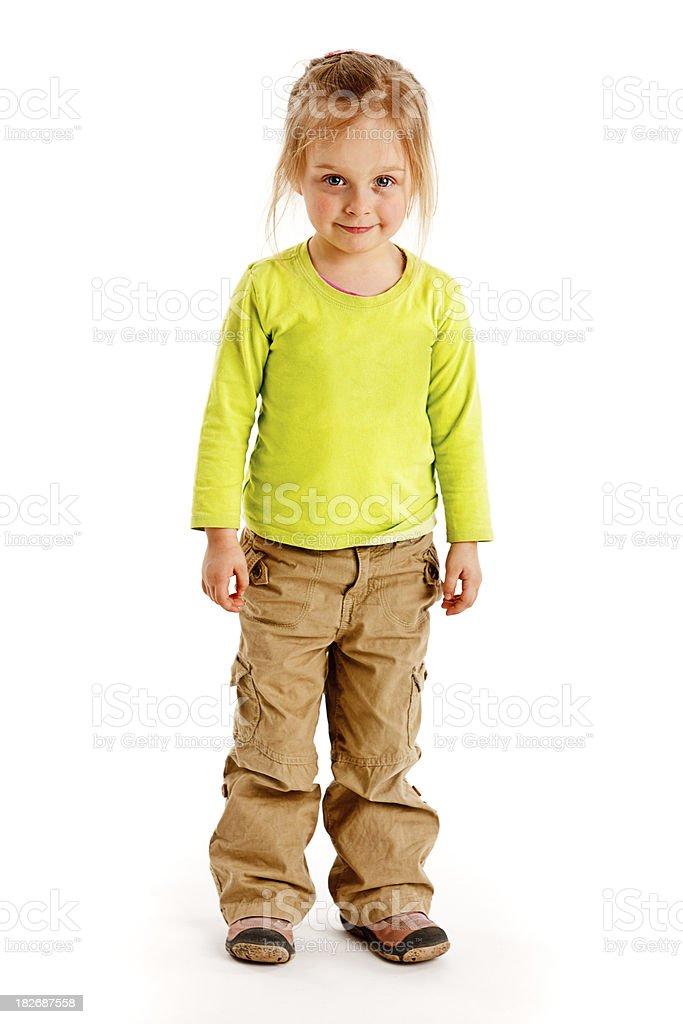 Petite fille isolé sur blanc - Photo