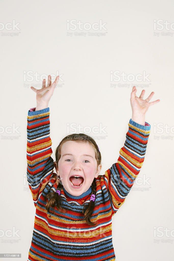 Little Girl - Jump for Joy! royalty-free stock photo