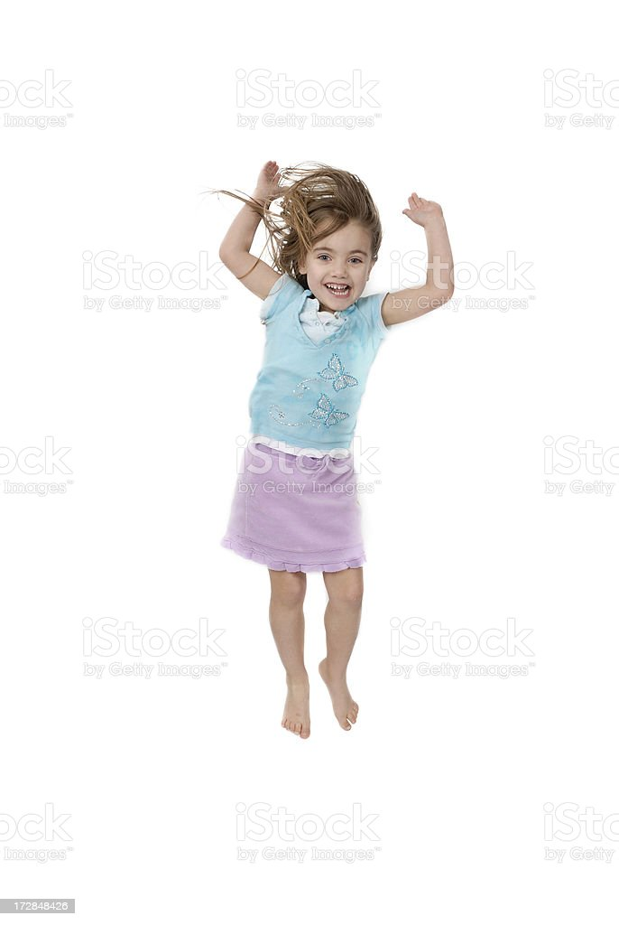 Little girl jumping royalty-free stock photo