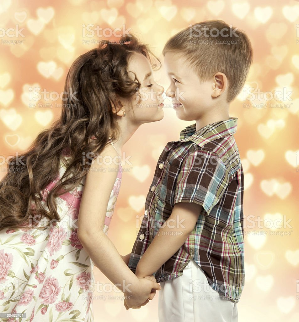 Little girl kissing boy stock photo more pictures of little girl kissing boy royalty free stock photo altavistaventures Images