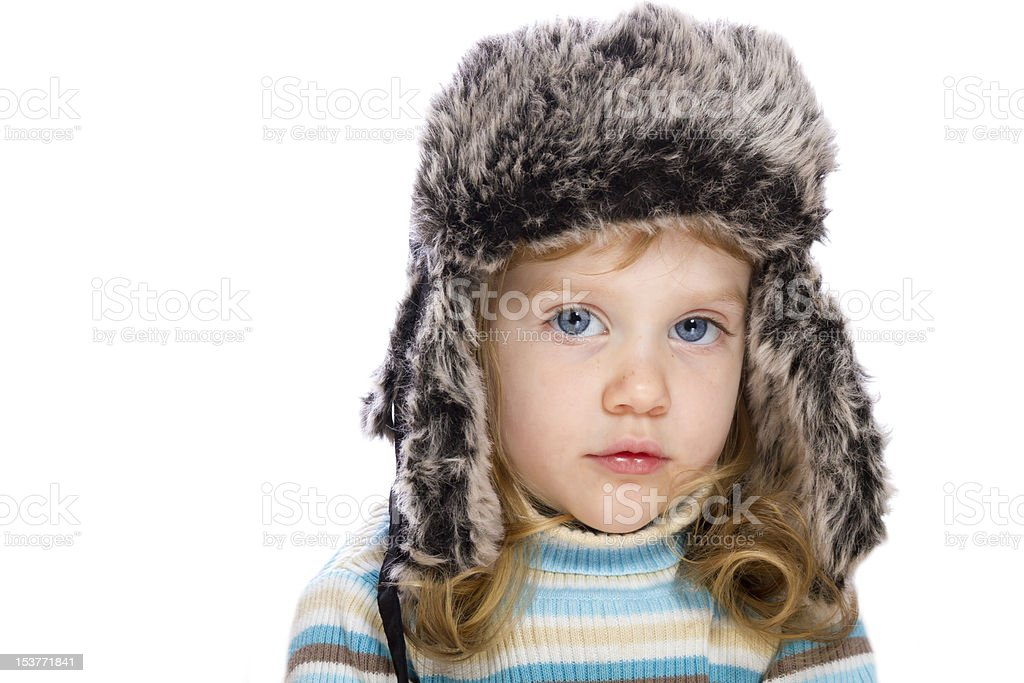 Little girl looking into the camera royalty-free stock photo