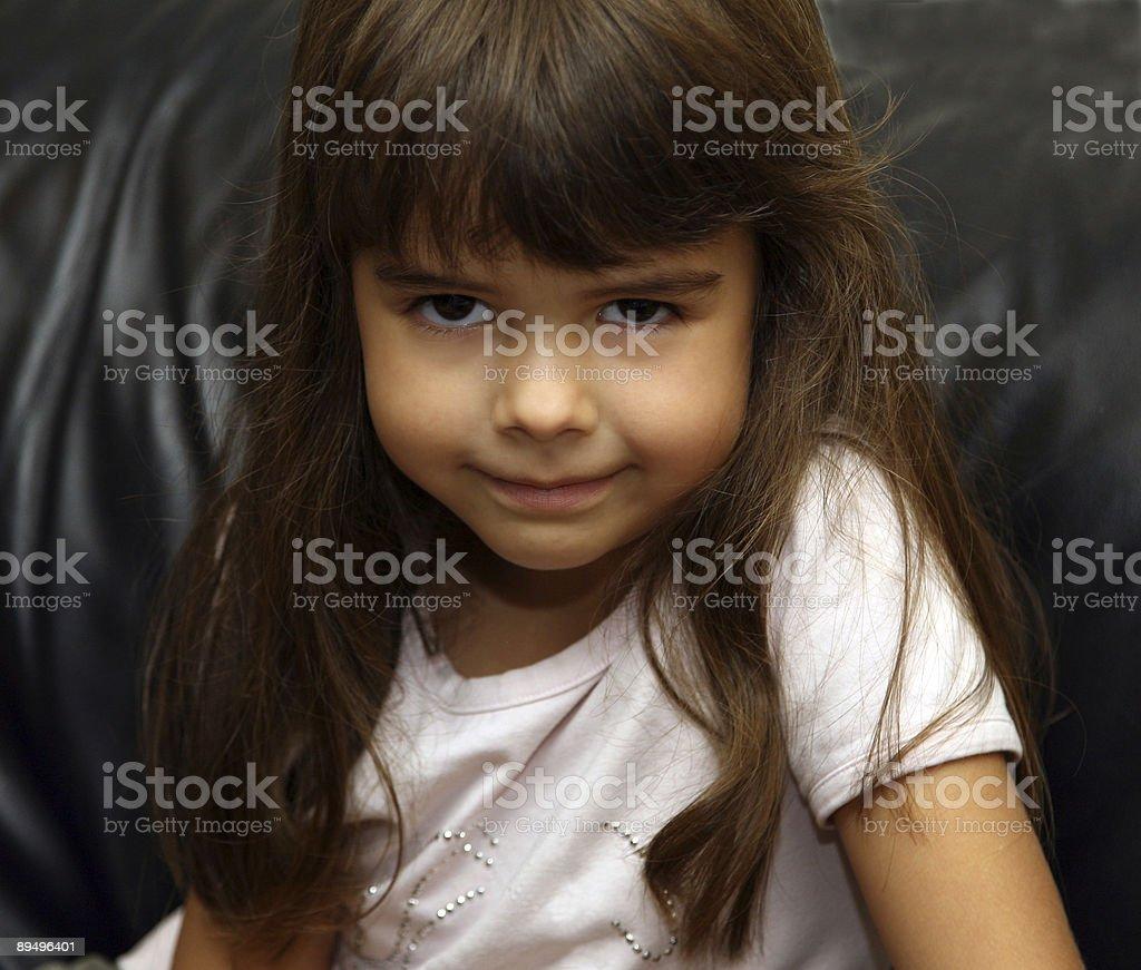 little girl looking royaltyfri bildbanksbilder