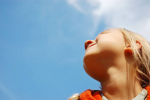 1 313 Girl Looking Up At Sky Stock Photos Pictures Royalty Free Images Istock