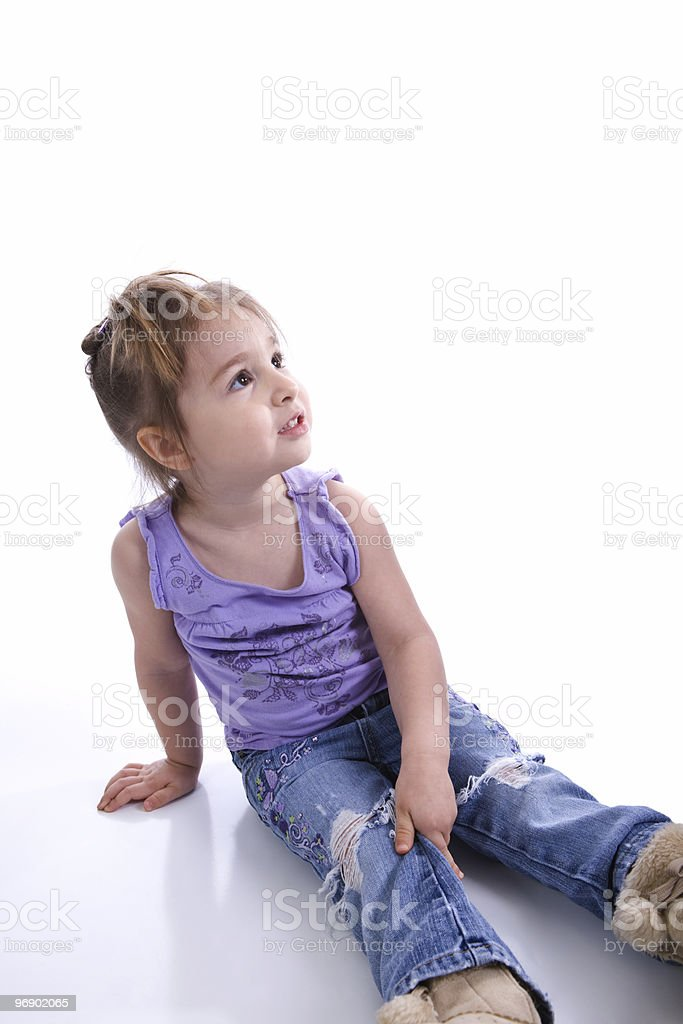 Little Girl Looking Up royalty-free stock photo