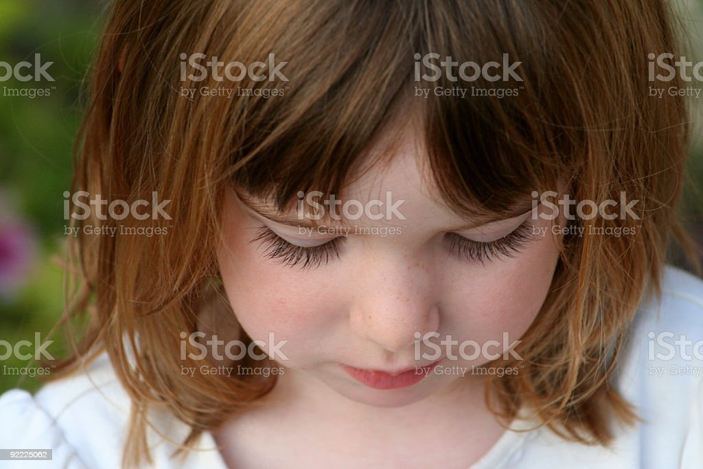 Little Girl Lost in Thought royalty-free stock photo