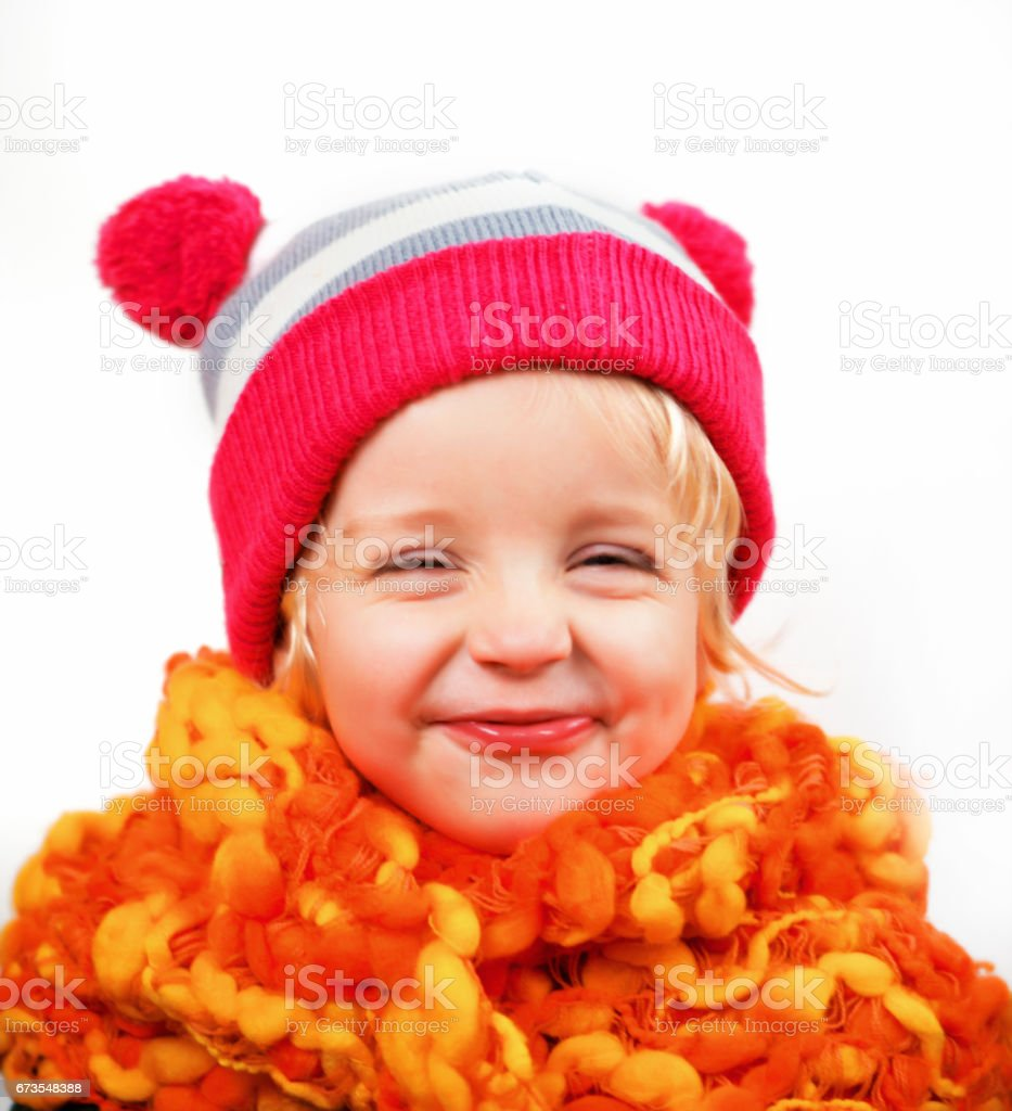 Little Girl Making a Funny Face royalty-free stock photo