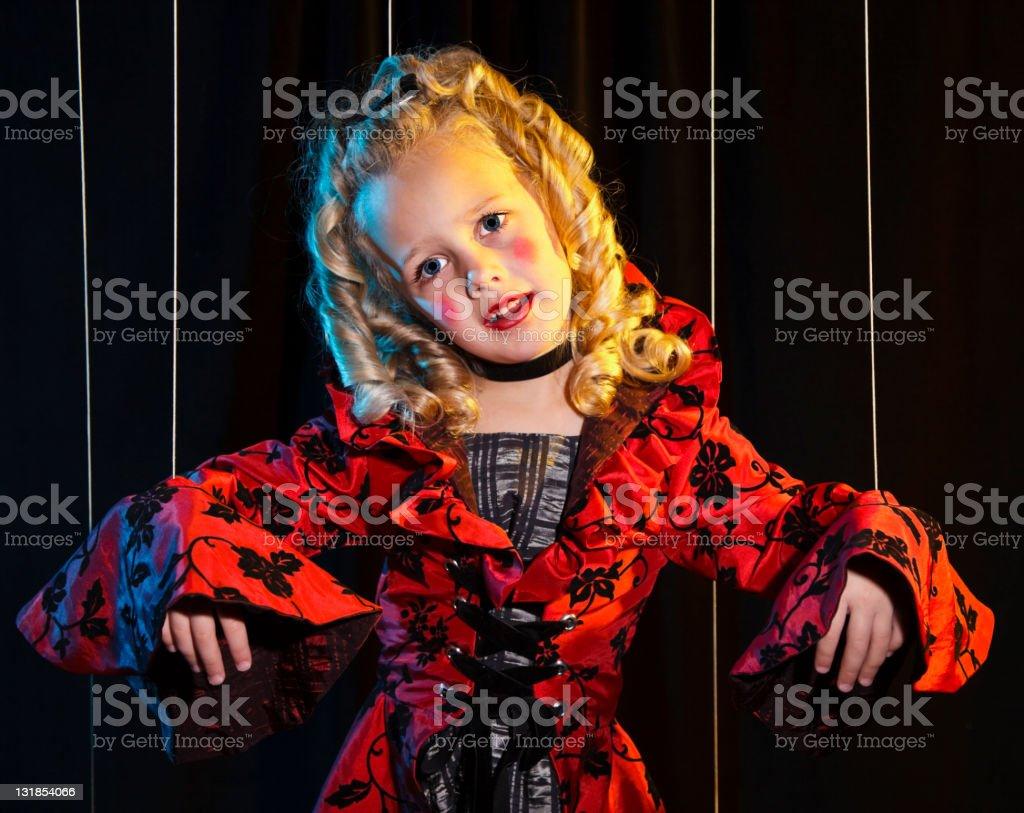 Little Girl Marionette royalty-free stock photo