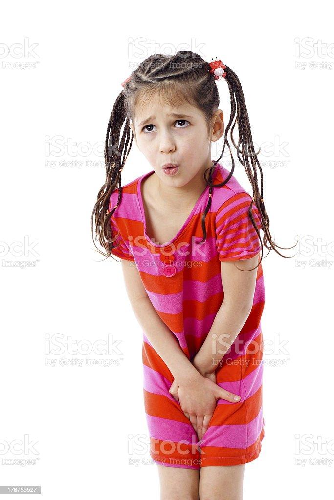 Menina precisa de pee - foto de acervo