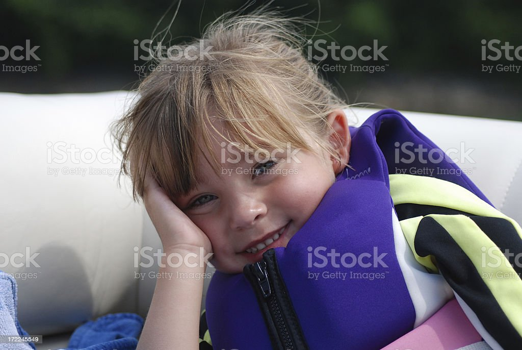 Little Girl on a boat royalty-free stock photo