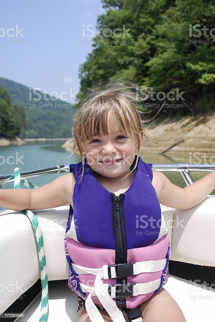 Little Girl on a Boat Ride royalty-free stock photo