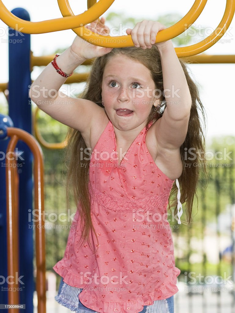 little girl on playground royalty-free stock photo