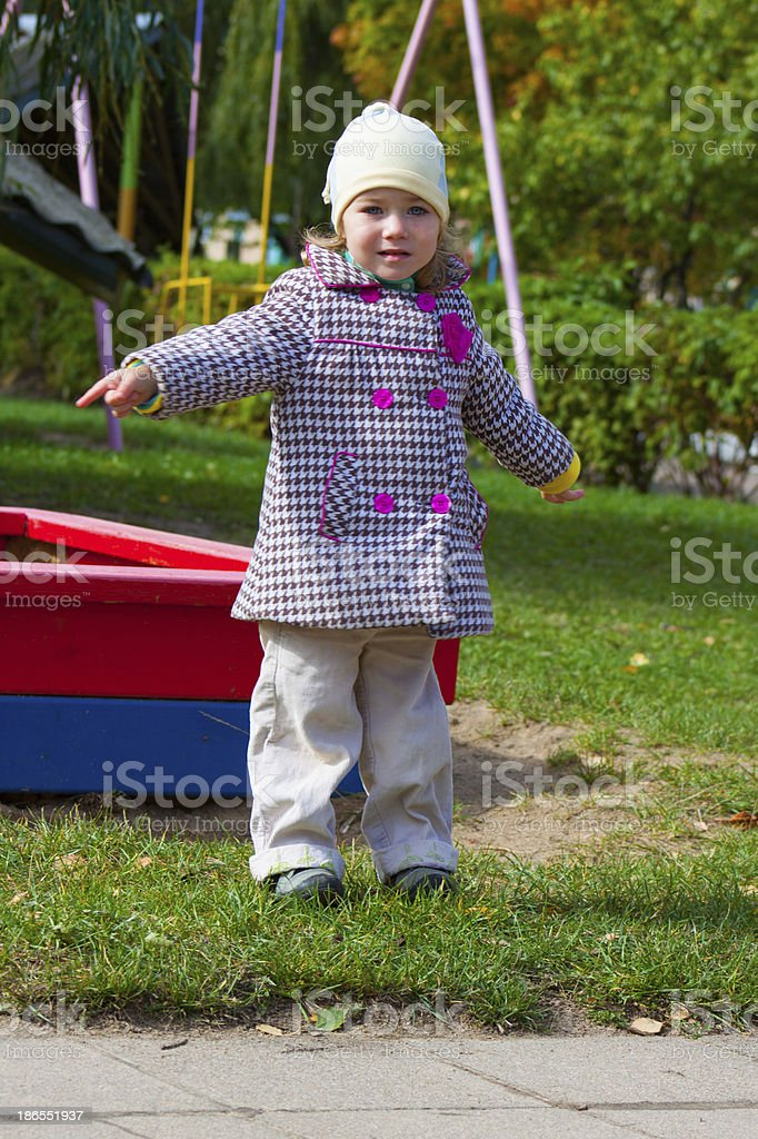 little girl on the playground royalty-free stock photo