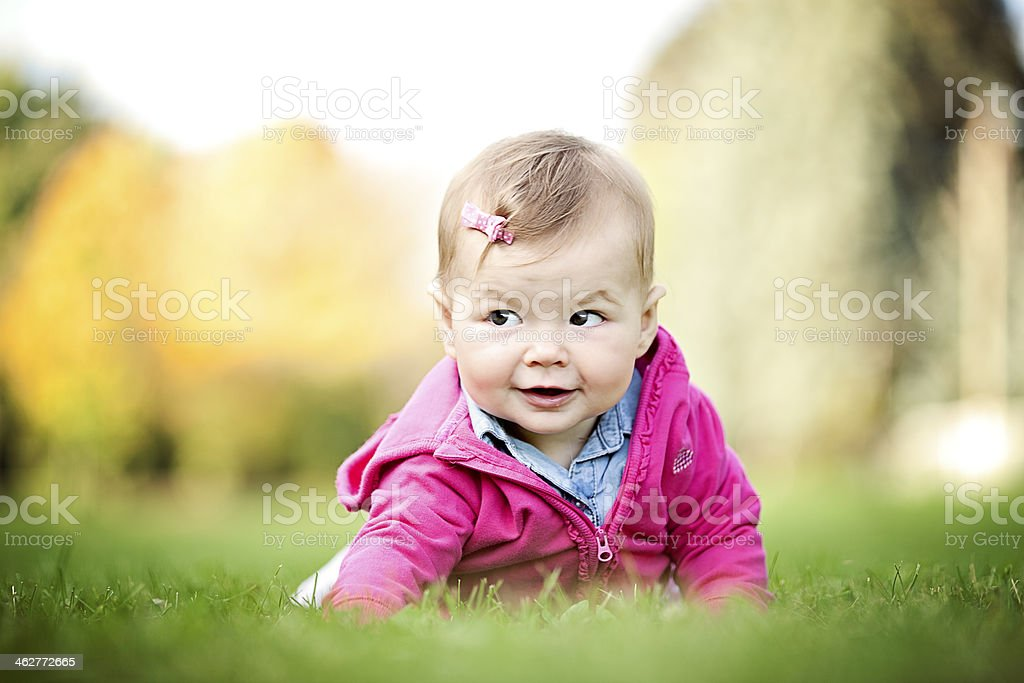 Little girl outdoor portrait royalty-free stock photo