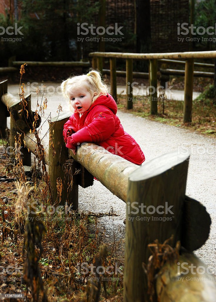 little girl outside royalty-free stock photo