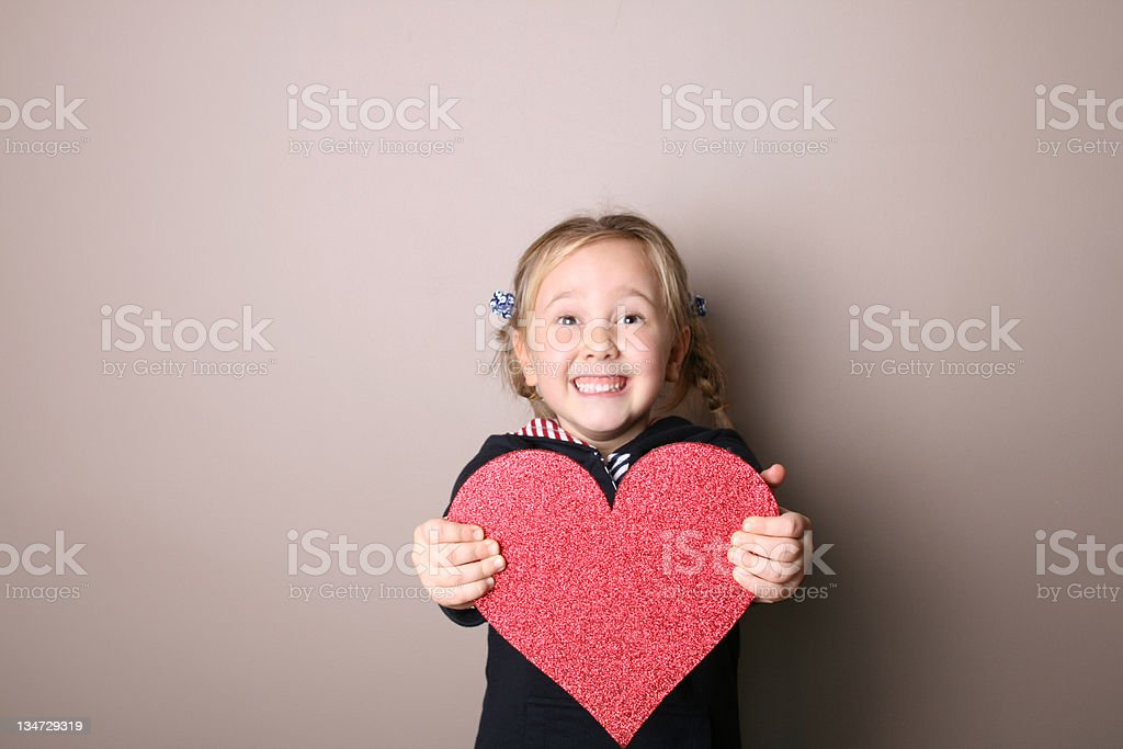 Little Girl (Clipping Path) royalty-free stock photo