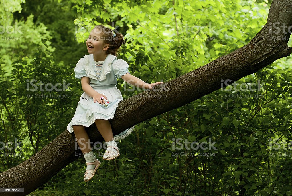 Little girl. royalty-free stock photo