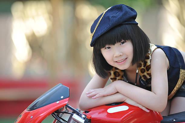 Japanese girl bending over