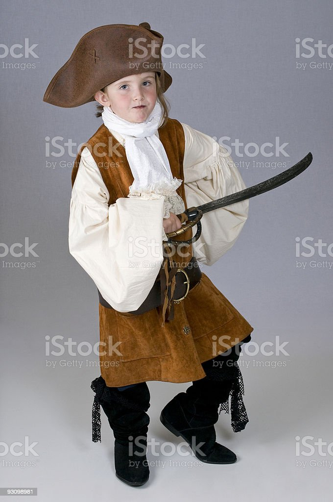 Little girl pirate royalty-free stock photo