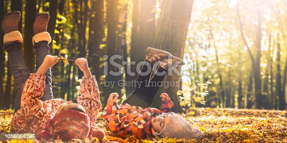 istock little girl playing in autumn leaves 1056064096