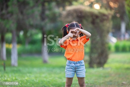 istock Little girl playing  Photography games 1159033708