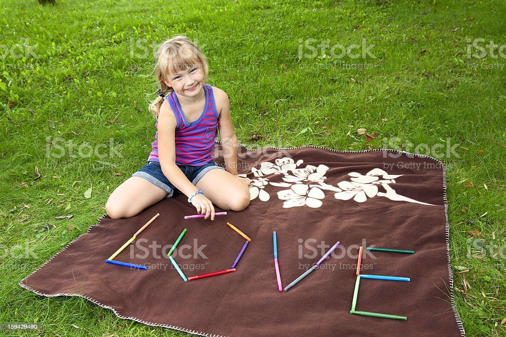 Little girl playing royalty-free stock photo