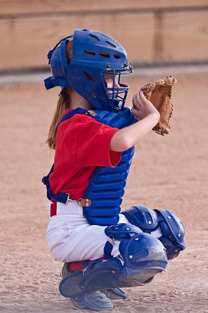 Petite fille jouant Softball - Photo