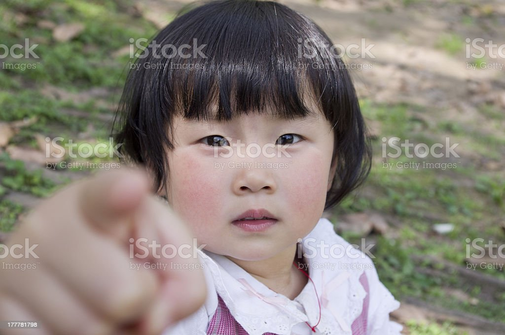 little girl point you royalty-free stock photo