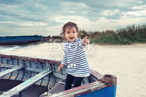 istock Little girl pointing at something 466315772