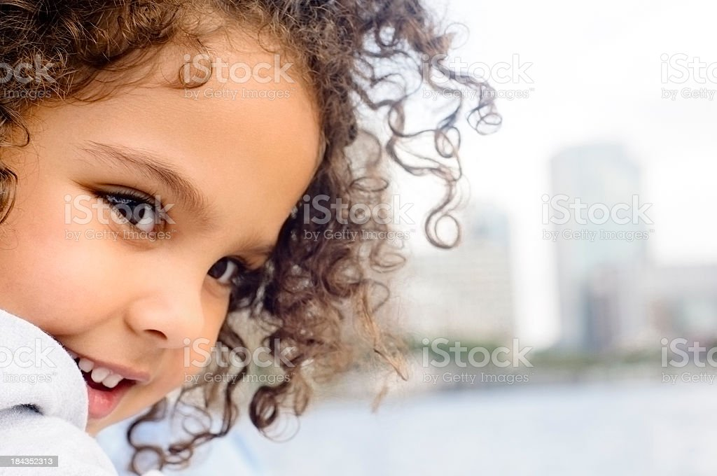 Little Girl Portrait Age of 4 Years Old royalty-free stock photo