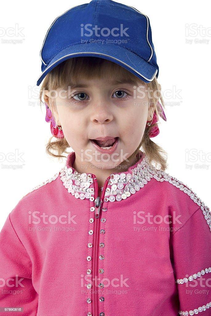 Little Girl Portrait. royalty-free stock photo