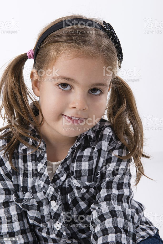 little girl posing royalty-free stock photo