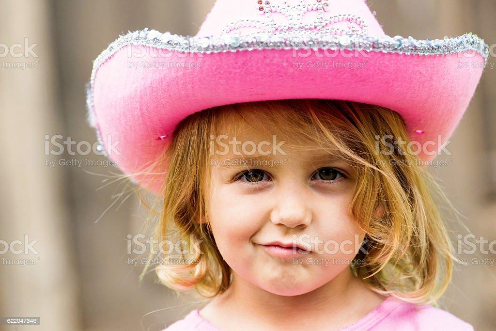 Little girl posing smiling stock photo