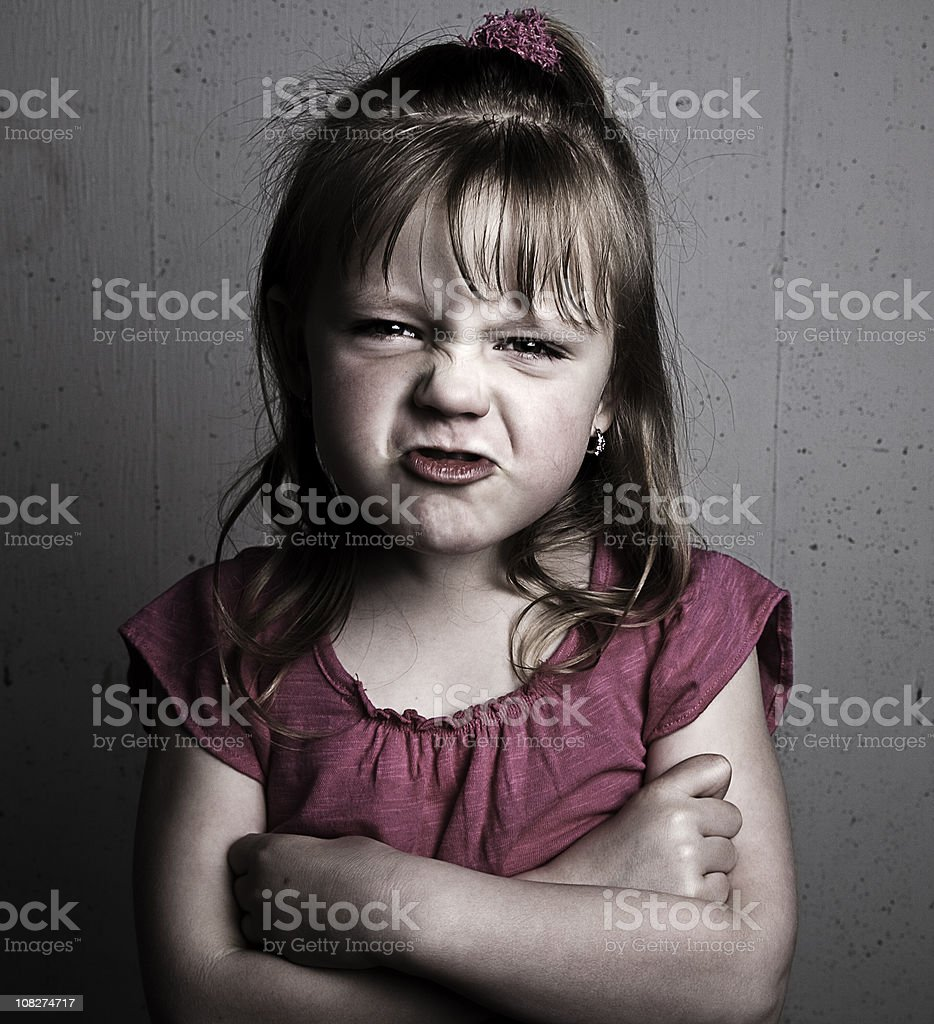 Little Girl pouting royalty-free stock photo