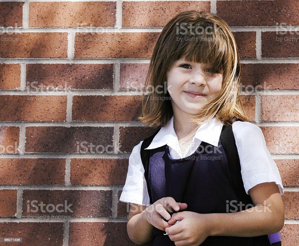 Little Girl Preschool Portrait royalty-free stock photo