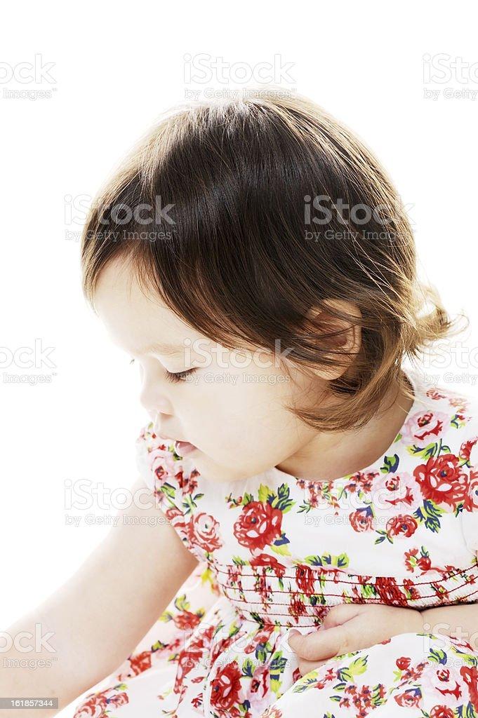 Little girl profile royalty-free stock photo