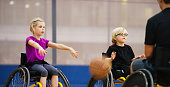istock Little Girl Pushing a Basketball 499777692